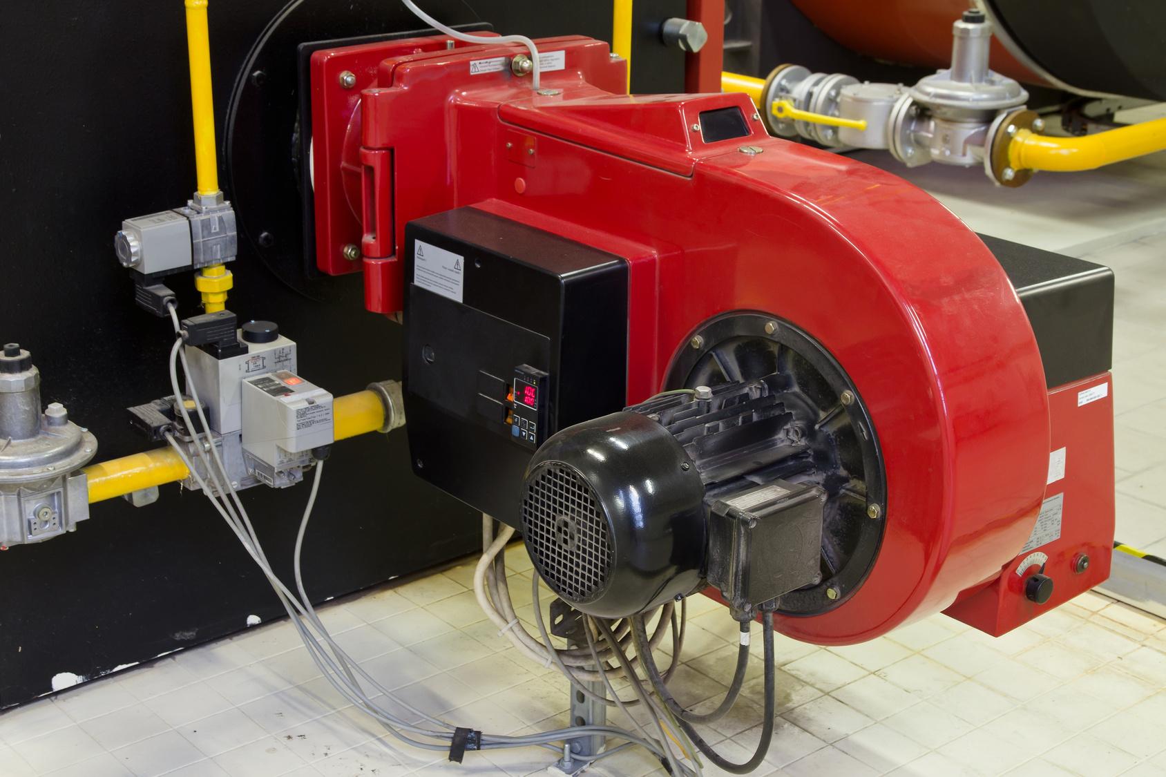 Industrial burner gas boilers